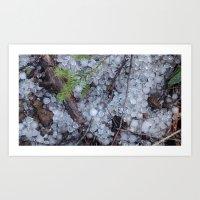 Midsummer Hailstones Art Print