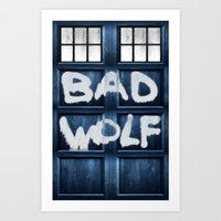 DOCTOR WHO SERIES / BAD WOLF Art Print