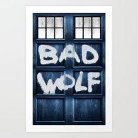 DOCTOR WHO SERIES / BAD WOLF Art Print
