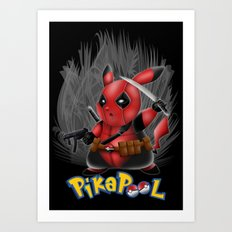 PikaPooL Red Black ninja poket monster iPhone 4 4s 5 5c 6, ipod, ipad, pillow case Art Print