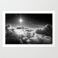 Clouds Black & White Art Print