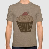 Cupcakes Curly Mens Fitted Tee Tri-Coffee SMALL