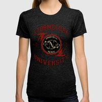 Stormcloak University(Skyrim) Womens Fitted Tee Tri-Black SMALL