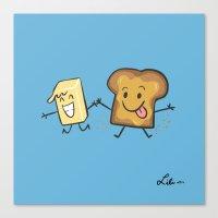Kaya Toast Canvas Print
