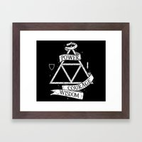 The Legend of Zelda - Triforce Framed Art Print