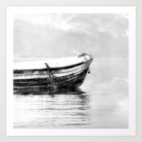 The Boat B/w Art Print