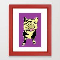 Taco the French Bulldog Framed Art Print