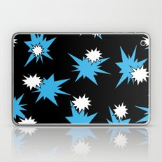 Stars (Blue & White on Black) Laptop & iPad Skin