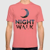 Night Walk Mens Fitted Tee Pomegranate SMALL