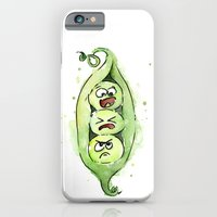 iPhone & iPod Case featuring Peas in a Pod by Olechka