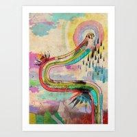 Tears Of Icarus Art Print