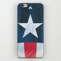 Captain America Minimal iPhone & iPod Skin