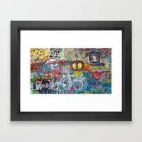 Graffiti Love Framed Art Print