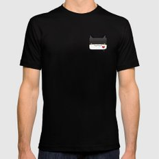 Convo Cats! Jiji Mens Fitted Tee Black SMALL