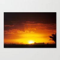 South Shore Sunset Canvas Print