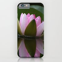 iPhone & iPod Case featuring Reflecting Water Lily by TaLins