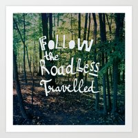 Follow The Road Less Travelled Art Print