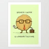 Fulltime Cookie Art Print