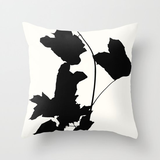 Maple Black Throw Pillow