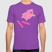 Don't Stop Piggin' Out Mens Fitted Tee Ultraviolet SMALL
