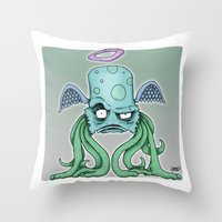 Space Alien Sci Fi art by RonkyTonk Throw Pillow