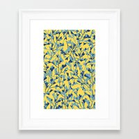 HEARTS PLANTATION [yellow] Framed Art Print