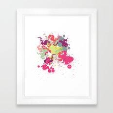 out splash Framed Art Print