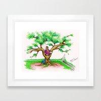 ME ON A SCHOOL TREE - 1994 Framed Art Print