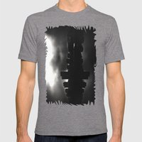 Sleeping in the dark (black v.) Mens Fitted Tee Tri-Grey SMALL