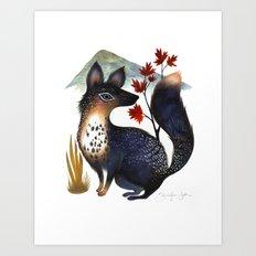Speckled Fox Art Print