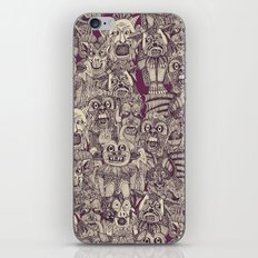 gargoyles purple iPhone & iPod Skin