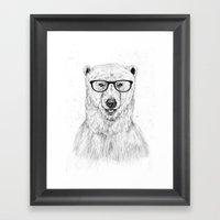 Geek bear Framed Art Print