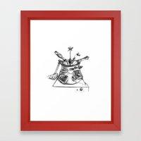 Tomato-Basil Sauce Framed Art Print