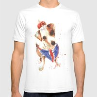 LONDON - Jack Russell Ar… Mens Fitted Tee White SMALL