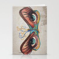 Butterflies eyes Stationery Cards