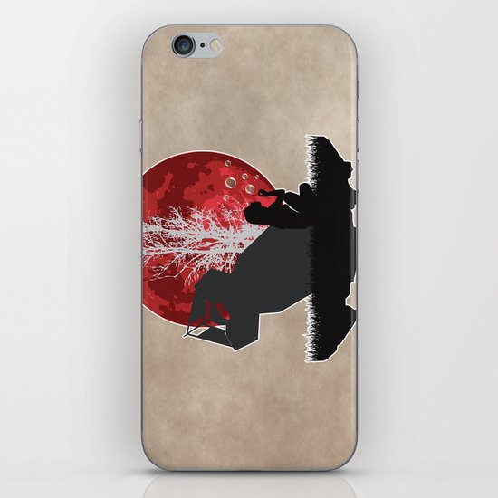 Girl blowing bubbles near bomb iPhone & iPod Skin