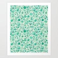 The Wonderful World of Succulents Art Print