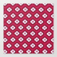Red Graphic Flower Canvas Print
