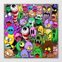 Monsters Doodles Characters Saga Canvas Print