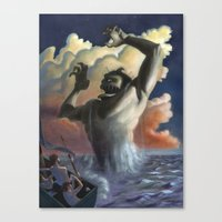 Suddenly The Beast Arose… Canvas Print