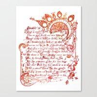 Sonnet 18 Illustration - William Shakespeare Canvas Print