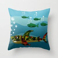Le Requin Throw Pillow