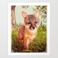 So Foxy! Art Print