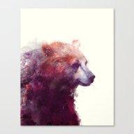 Canvas Print featuring Bear // Calm by Amy Hamilton