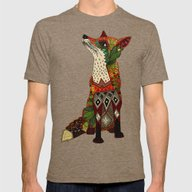 Fox Love Juniper Mens Fitted Tee Tri-Coffee SMALL