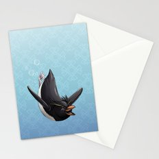 Penguin of Giddiness Stationery Cards