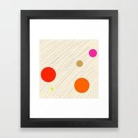 Circles Orange Framed Art Print