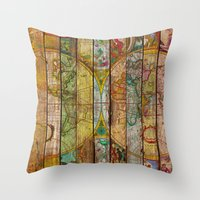 Around The World In Thir… Throw Pillow