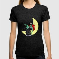 Witchful Thinking! Womens Fitted Tee Tri-Black SMALL