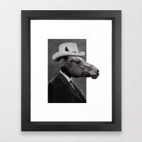 HORSE FACE Framed Art Print